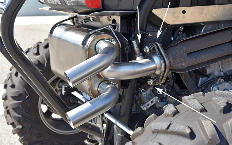 performance exhaust system   polaris rzr xp