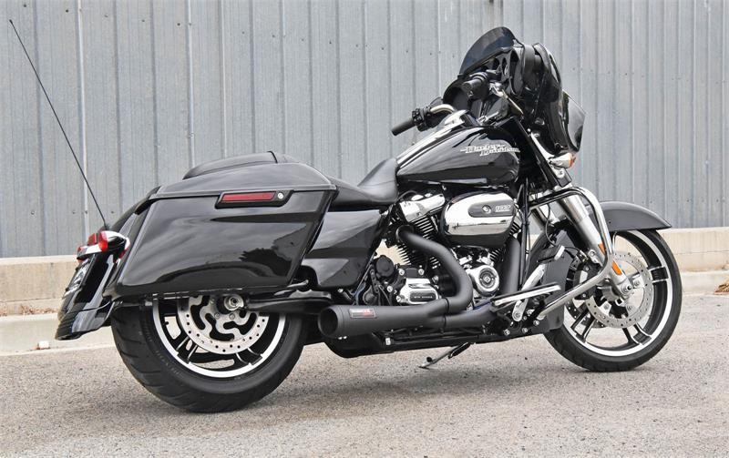 Bassani 2-1 Road Rage Short Megaphone Exhaust 17-20 Harley Touring FLHR FLHX